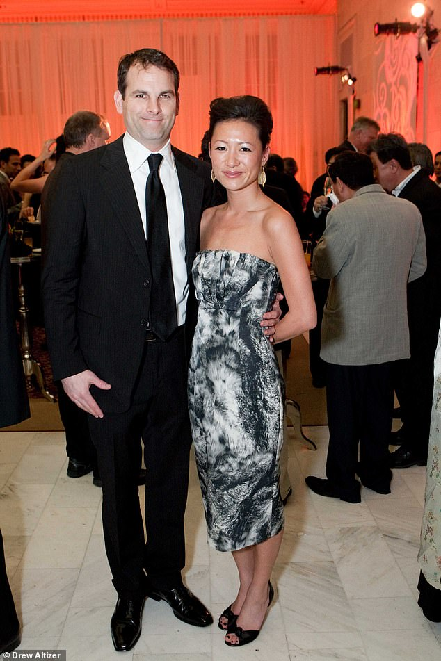 A family attorney said O'Loughlin and his ex-wife, shipping executive Lesley Hu (pictured together at an event) had been locked in a bitter custody dispute that revolved around their son's health care